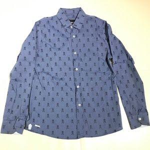 Fred Mello Boys Skull Button-Down Shirt